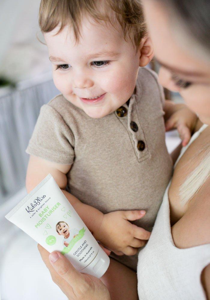 KidsBliss Moisturiser and baby
